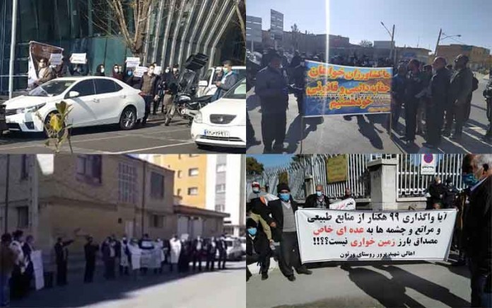 On January 27, Iranian citizens held at least five rallies and strikes, protesting the regime's profiteering policies and decisions.