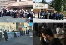 On January 12, Iranian citizens continued their protests against the regime's plundering policies through five rallies in various cities.