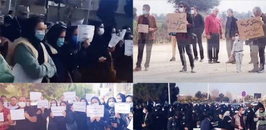 On January 2, the fed-up people of Iran continued their protests against the regime's profiteering policies through four rallies.