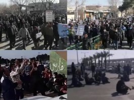 On January 16, Iranian citizens once again vented their anger at the regime's profiteering policies through three protests in two provinces.