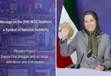 Following INTV's Telethon, NCRI President-elect Maryam Rajavi praised public aids, describing the program as a symbol of national solidarity.