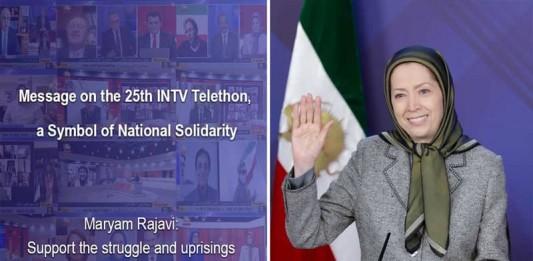 Following INTV's Telethon, NCRI President-elect Maryam Rajavi praised public aids, describing the program as a symbol of national solidarity.