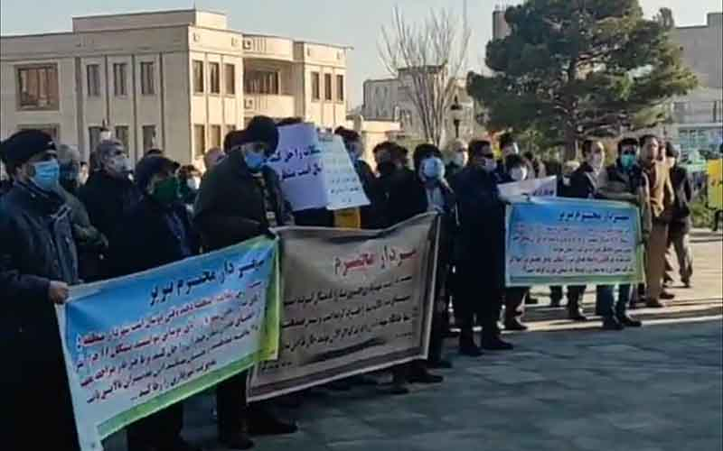 Rally of Housing Cooperative Shareholders—Iranian citizens continue protests on February 1