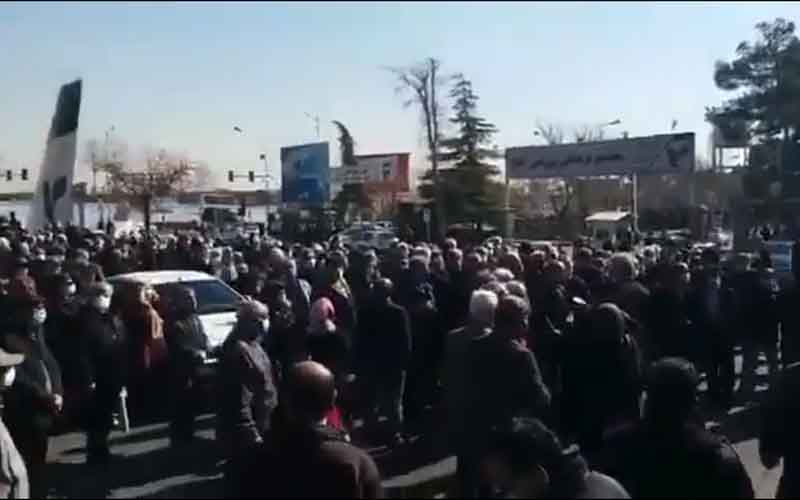 Rally of Homa Airlines Company's Retirees—Iranian citizens continue protests on February 2