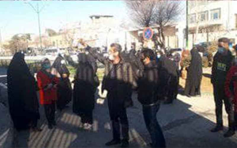 Rally of Literacy Movement Educators—Iranian citizens continue protests on January 31