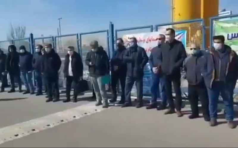 Rally of Engineers—Iranians continue protests on February 24