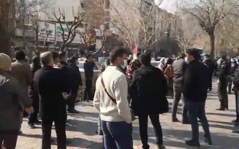Rally of Bourse Shareholders—Iranian citizens continue protests on February 2
