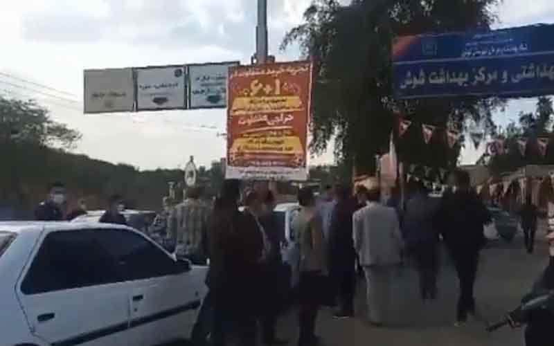 Rally of Health Center's Drivers—Iranians continue protests on February 17