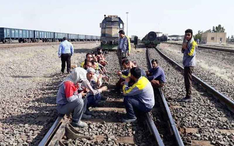 Railroad Workers' Protest—Iranians continue protests on February 9