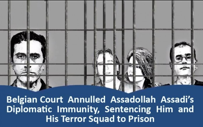 In a unique event, a Belgian court sentenced Iranian diplomat Assadollah Assadi and his sleeper cell for a bombing plot at the NCRI rally.