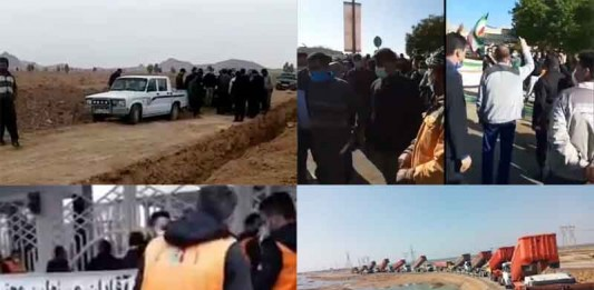 On February 8, Iranian citizens held at least four rallies in various cities, venting their anger at the regime's oppressive decisions.