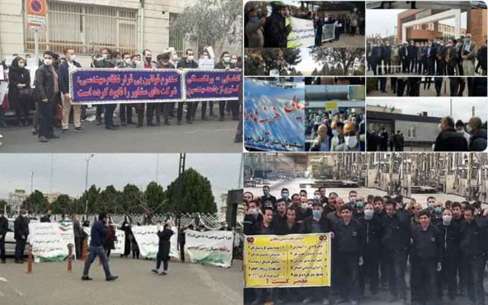 On February 17, Iranian citizens from different walks of life held at least ten protests in various cities, seeking their basic rights.