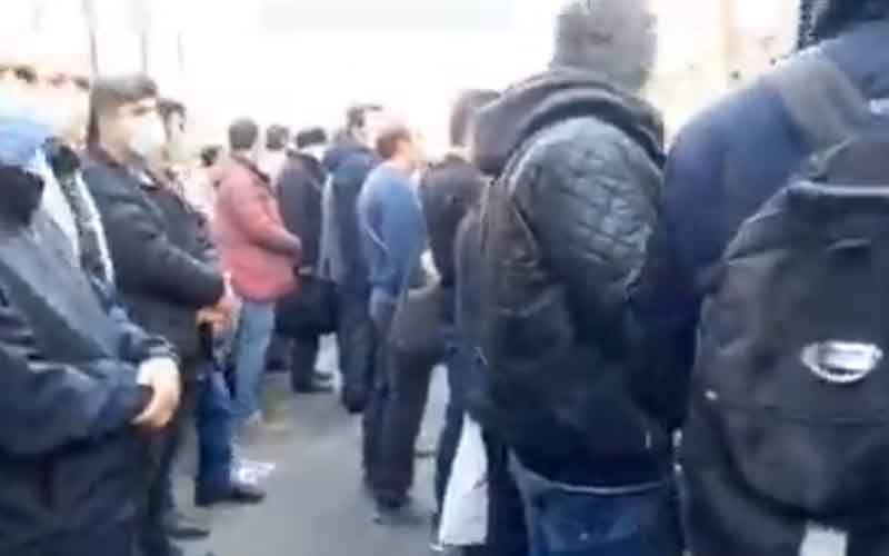 Rally of Azvico Customers—Iranians continue protests on March 8