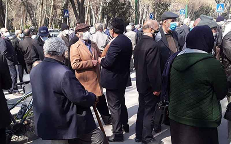 Rally of Steel and Mine Retirees—Iranians continue protests on March 1