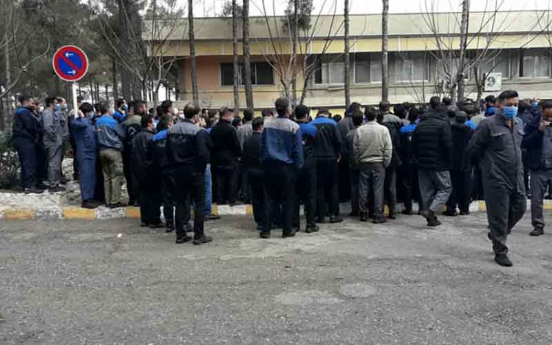 Rally of Pars Tire Complex Workers, Day 8—Iranians continue protests on March 1
