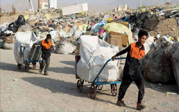Thanks to the Iranian government, thousands of children are working as garbage collectors in Tehran