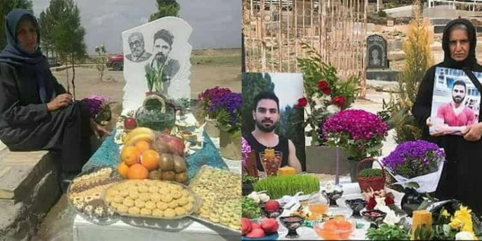 Mothers of the victims of people fallen for freedom in Iran celebrating the Persian new year 'Nowruz' next to their loved ones' graves.