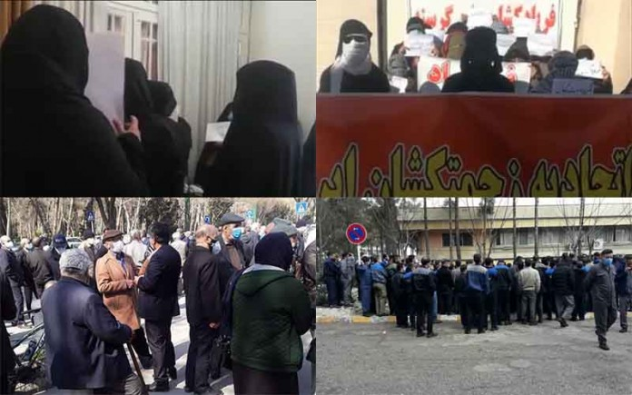 On March 1, Iranian citizens from different walks of life held at least four rallies and protests in different cities, demanding their rights.