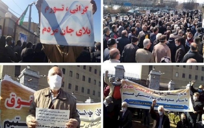 """Iran's retirees protesting for a piece of """"Bread"""""""