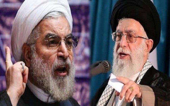 The heads of Iran's government Hassan Rouhani and Ali Khamenei