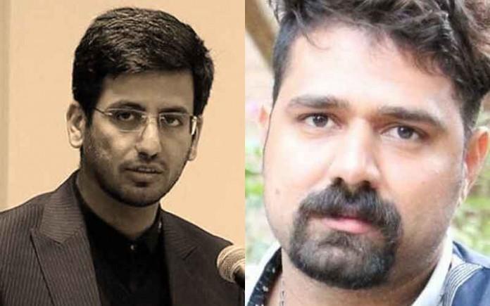 Amin Vaziri (left) the killer of Behnam Mahjoubi (right)