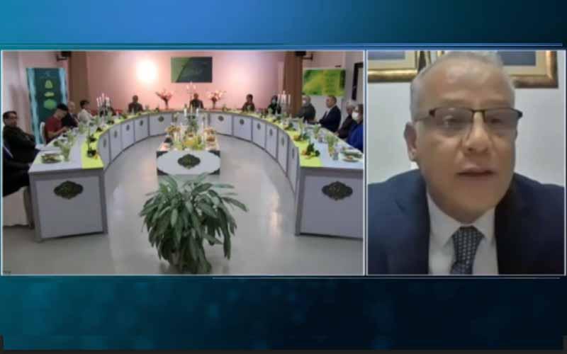 Ahmad AbouHashish, Deputy Chair of the Palestinian Legislative Council, at the international online session marks Ramadan—April 14, 2021