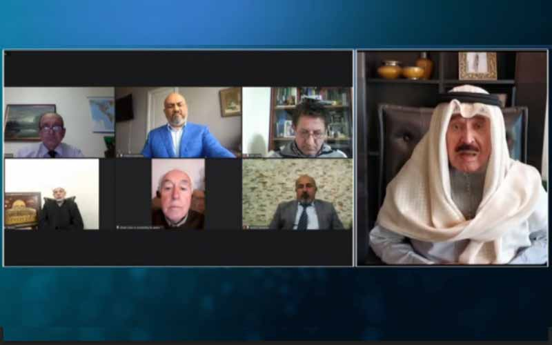 Ahmed Al-Jarallah, Editor-in-Chief of the Al-Siyasa newspaper and Dean of Kuwaiti Press, at the international online session marks Ramadan—April 14, 2021