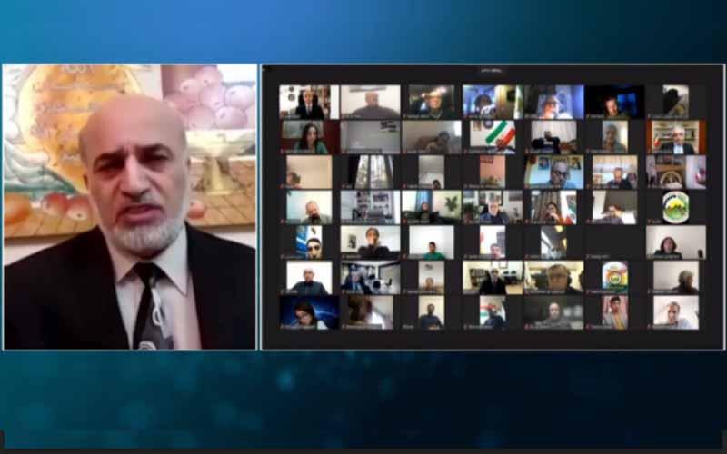 Bassam Al-Omoush, former Jordanian Minister and former Ambassador to Iran, at the international online session marks Ramadan—April 14, 2021