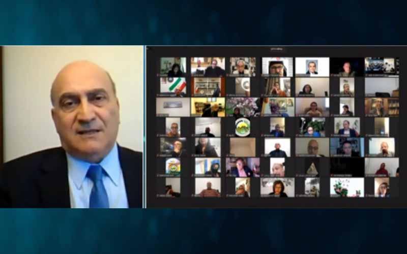 Dr. Walid Phares, pakar Kebijakan Luar Negeri, Wakil Sekretaris Jenderal Transatlantic Parliamentary Group, pada sesi online internasional menandai Ramadhan — 14 April 2021