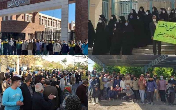From March 28 to 31, citizens in Iran held at least 18 rallies andprotestsin various cities despite the national holidays of Nowruz
