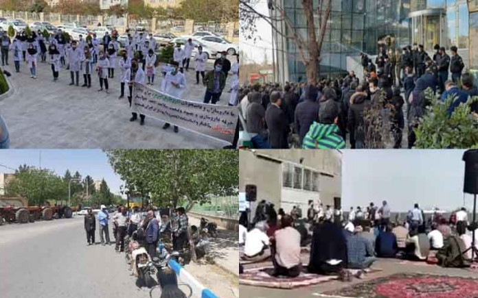 From April 19 and 22, citizens in Iran staged at least 19 rallies andprotestsin various cities, venting their anger over the government's plundering and profiteering policies.