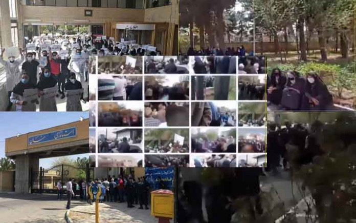 From April 8 and 11, the people of Iran staged at least 37 rallies and protests in various cities, venting their anger over the government's plundering and profiteering policies.