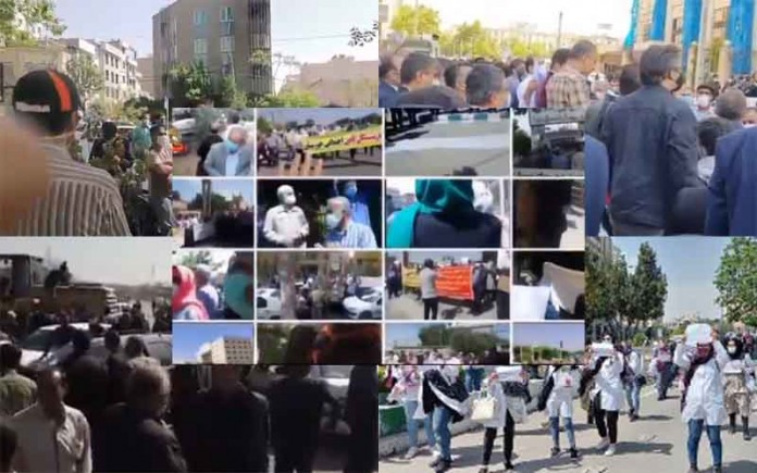 From April 14 and 18, citizens in Iran staged at least 59 rallies andprotestsin various cities, venting their anger over the government's plundering and profiteering policies.