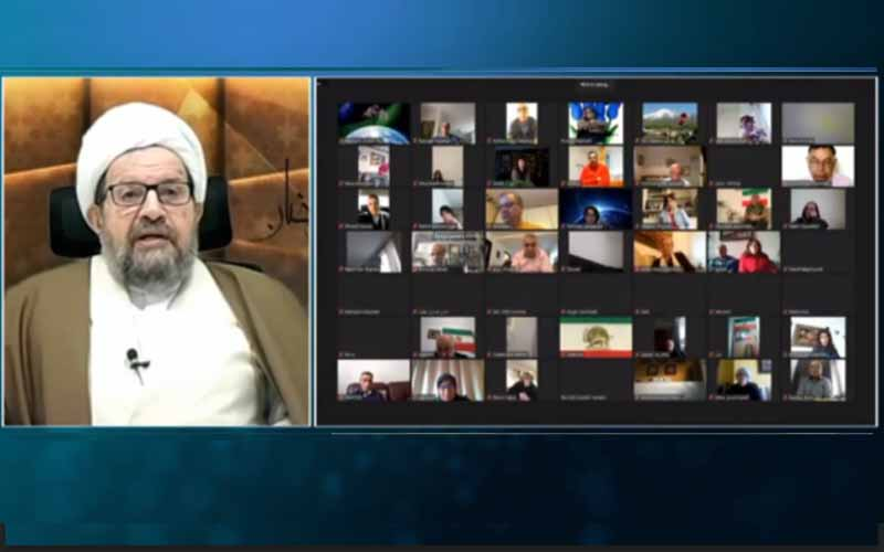 Jalal Ganjei, Chairman of the NCRI Committee on Freedom of Religions, at the international online session marks Ramadan—April 14, 2021