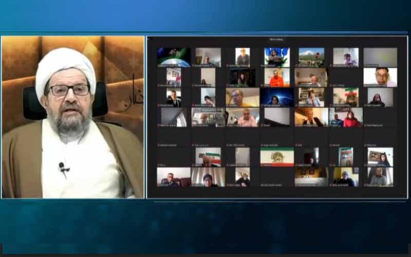 Jalal Ganjei, Ketua Komite NCRI untuk Kebebasan Beragama, pada sesi online internasional menandai Ramadhan — 14 April 2021