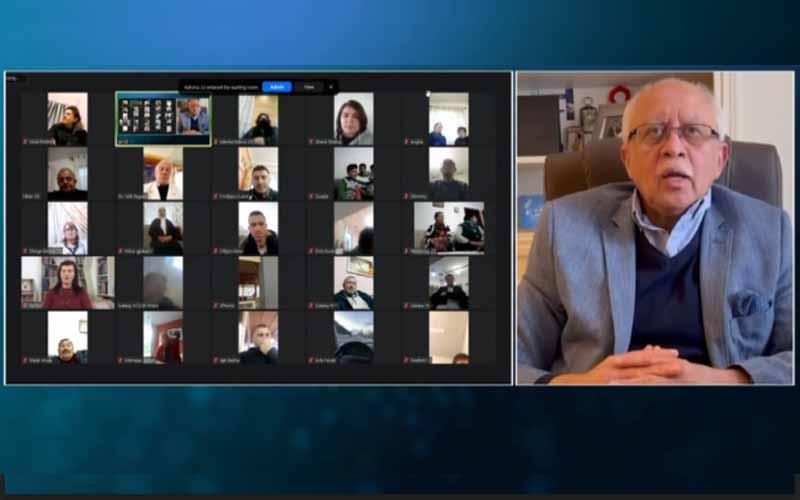 Riad Yassin Abdallah, Mantan Menteri Luar Negeri Yaman dan Duta Besar untuk Prancis, pada sesi online internasional menandai Ramadhan — 14 April 2021