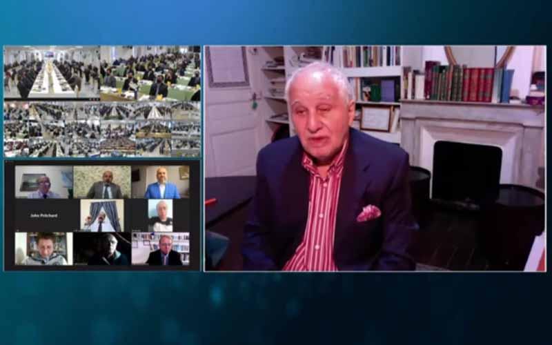 Sid Ahmed Ghozali, former Prime Minister of Algeria, at the international online session marks Ramadan