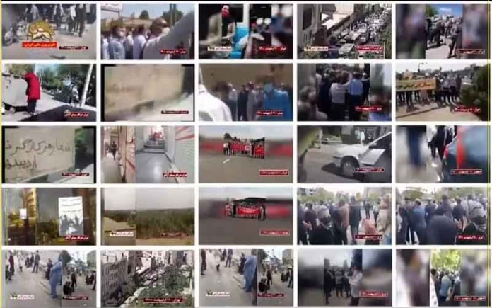 On the occasion of International Labor Day, workers in Iran once again flooded onto the streets in 20 cities protesting the government's oppressive and plundering policies.