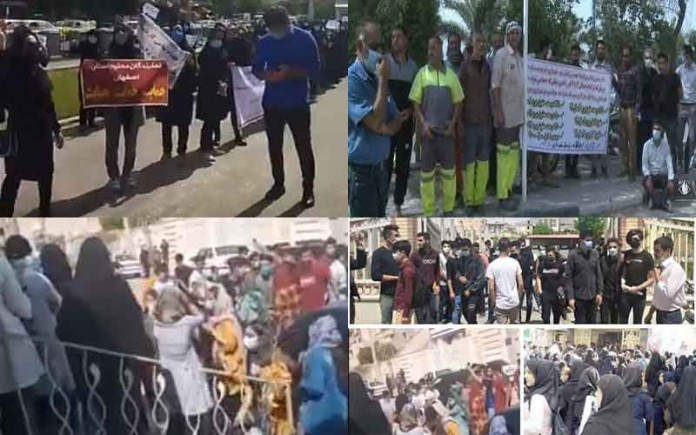 On May 11, the people of Iran held at least 11 rallies,protests, and strikesin various cities, venting their anger over the government's plundering and profiteering policies.
