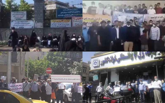 On May 9, the people of Iran held at least 21 rallies,protests, and strikesin various cities, venting their anger over the government's plundering and profiteering policies.