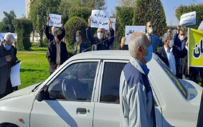 Iran's retirees and workers protest their living conditions