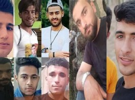 Youths killed by the Iranian regime's security forces during the ongoing 10-day water protests in the Khuzestan province
