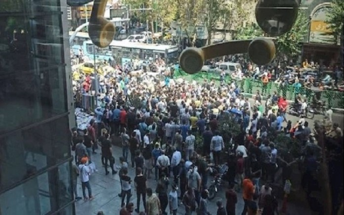 Protesters said early Monday that despite the regime's efforts to crack down the protests, which began in southwestern Iran, it spread to the capital, Tehran.