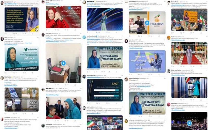 In support of Maryam Rajavi, the NCRI President-elect, Iranian netizens launched a tweetstorm on July 3 declaring their solidarity with her.