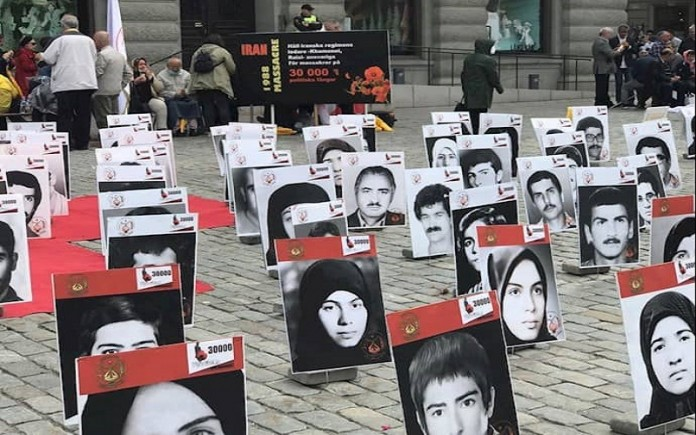 Stockholm, August 26, 2021 — Rally by the Iranians, Supporters of the MEK seeking justice for the 1988 massacre in Iran.