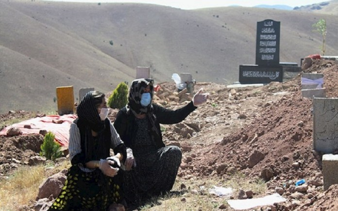 Daily coronavirus-related burials have become a regular scene for the Iranian people