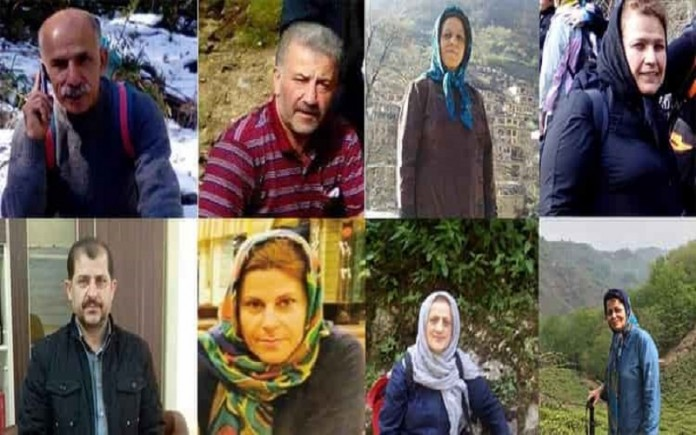 Eight Iranian political activists are sentenced to prison, without reason