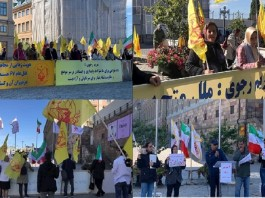 Iranians, supporters of the People's Mojahedin Organization of Iran (PMIO/MEK), and relatives of the martyrs of the 1988 massacre staged a demonstration in front of the Swedish Parliament.