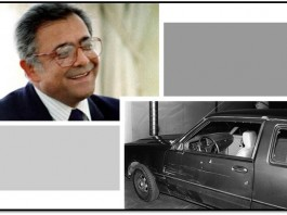 Dr. Kazem Rajavi was gunned down in his car on the way to his home. Bullet holes can be seen in his car during the bloody terror attack.