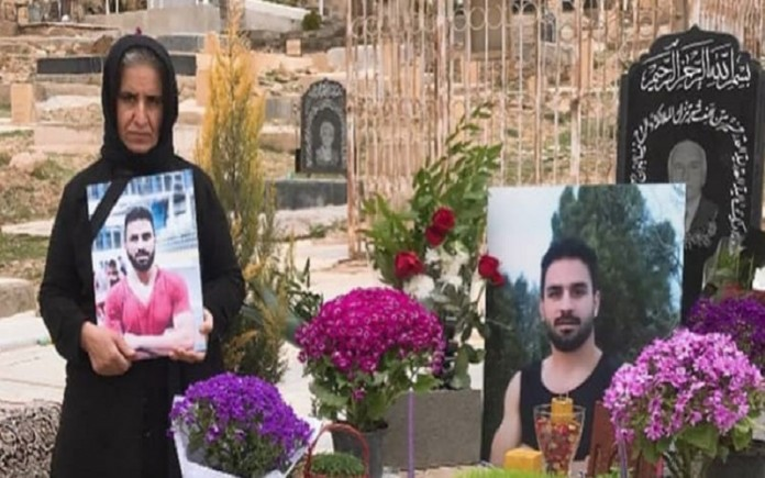 Navid Afkari was an Iranian wrestler who was sentenced to death and executed in Shiraz after having been falsely accused and convicted of murdering a security guard during the 2018 Iranian protests.